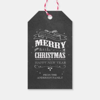 Rustic Chalkboard Christmas Tags