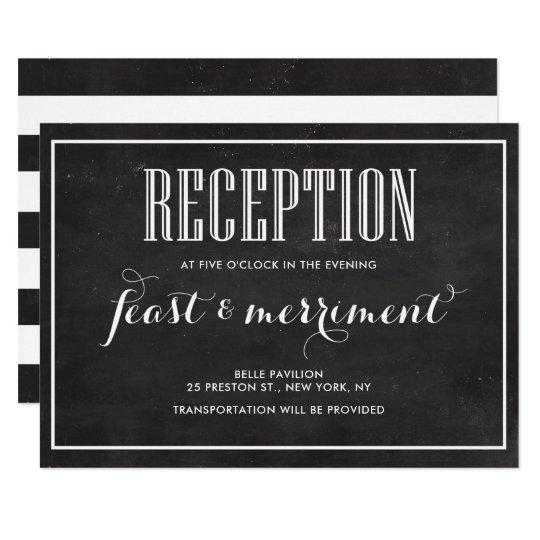 Rustic Chalkboard Eat Drink & be Married Reception