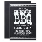 Rustic Chalkboard Graduation Party BBQ Invitation