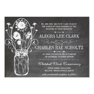 Rustic Chalkboard Mason Jar Vintage Typography Card
