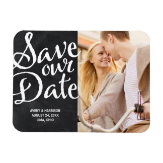Rustic Chalkboard | Photo Save the Date Magnet