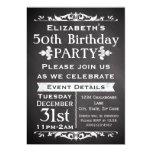 Rustic Chalkboard Slate 50th Birthday Party