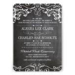 Rustic Chalkboard Vintage Typography Invite