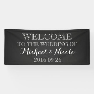 Rustic Chalkboard Wedding Welcome Sign Custom
