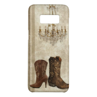 Rustic Chandelier Western country cowboy boots Case-Mate Samsung Galaxy S8 Case
