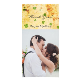 Rustic Charm Watercolor Thank you Irish Personalised Photo Card