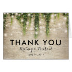 Rustic Chateau Stone Church Wedding Thank You Card