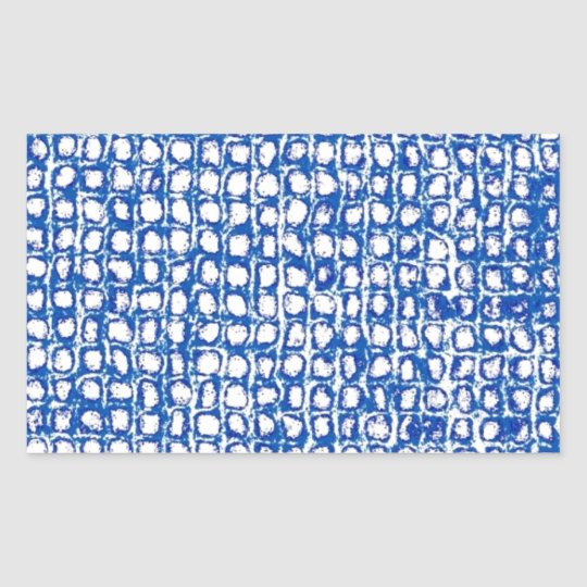 Rustic Chex Rectangular Sticker