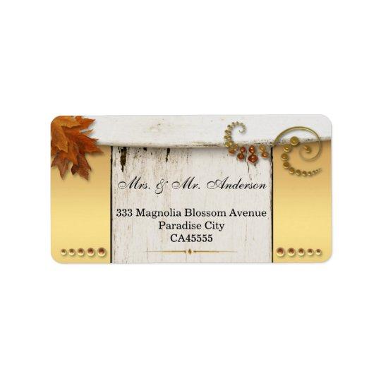Rustic Chic Fall Wedding Address Label