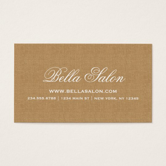 Rustic Chic Faux Burlap Business Card