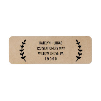 Rustic Chic Faux Kraft Wedding Return Address Label