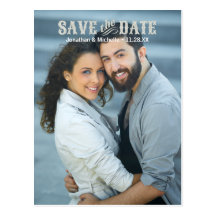 Rustic Chic | Glitter-Look Photo Save the Date