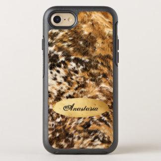 Rustic Chic Texas Long Horn Fur Pattern Custom OtterBox Symmetry iPhone 7 Case