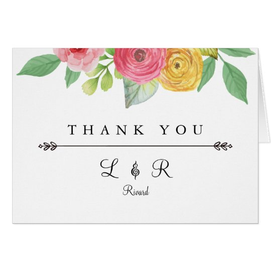 Rustic Chic Thank You Card