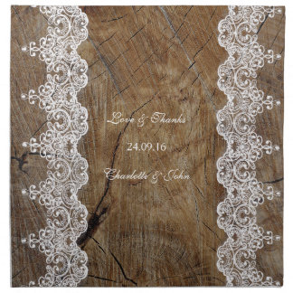 Rustic Chic White Lace Napkins (set of 4) dinner