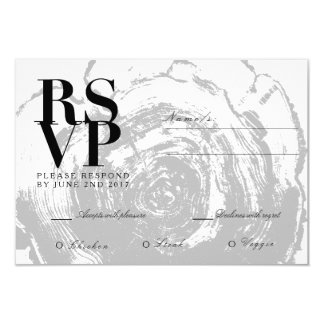 Rustic Chic Wood Slab | Wedding RSVP Card