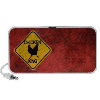Rustic Chicken Crossing Sign Speaker System