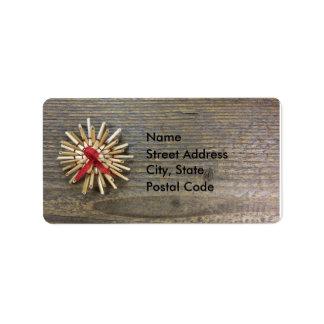 Rustic Christmas Address Label