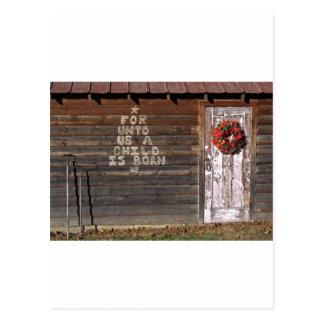 Rustic Christmas Graffiti Postcard