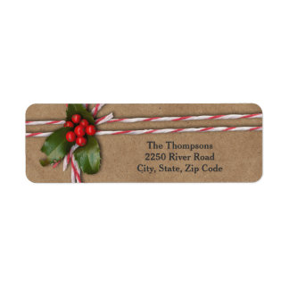 Rustic Christmas Kraft Paper with Holly Berries