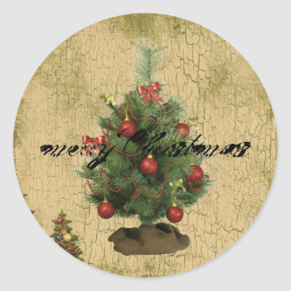 Rustic Christmas sticker