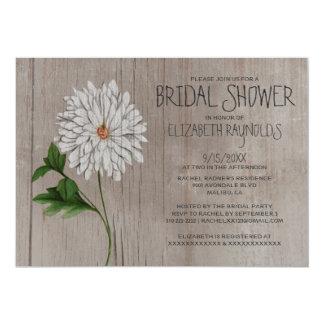 Rustic Chrysanthemum Bridal Shower Invitations