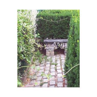 Rustic Cobblestone Garden Path Canvas Prints