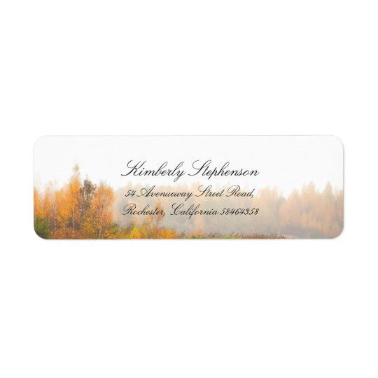 Rustic Colourful Fall Wedding Return Address Label