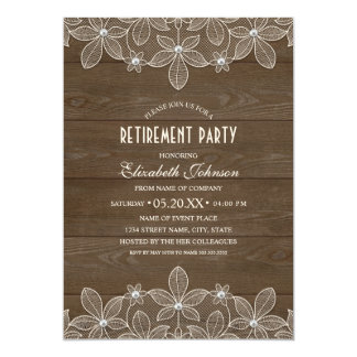 Rustic Corporate Retirement Party Country Wood Card