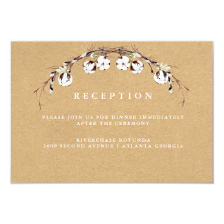 Rustic Cotton Reception Information Insert Card