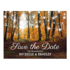 Rustic Country Autumn Fall Save the Date