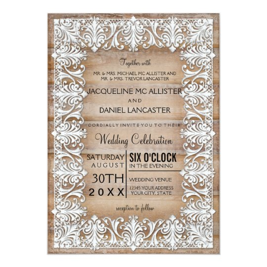Rustic Country Barn Style Lace n Wood Wedding