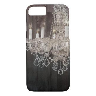 Rustic Country barn wood grain vintage chandelier iPhone 7 Case