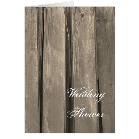 Rustic Country Barn Wood Wedding Shower Invitation