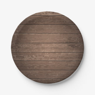 Rustic Country Barn Wood Wooden Party Paper Plate