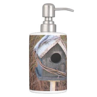 Rustic Country Birdhouse Bathroom Sets