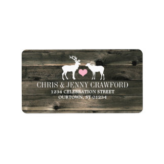 Rustic Country Buck and Doe Address Label