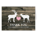 Rustic Country Buck and Doe Thank You Card