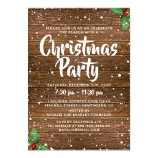 Rustic Country Business Company Christmas Party