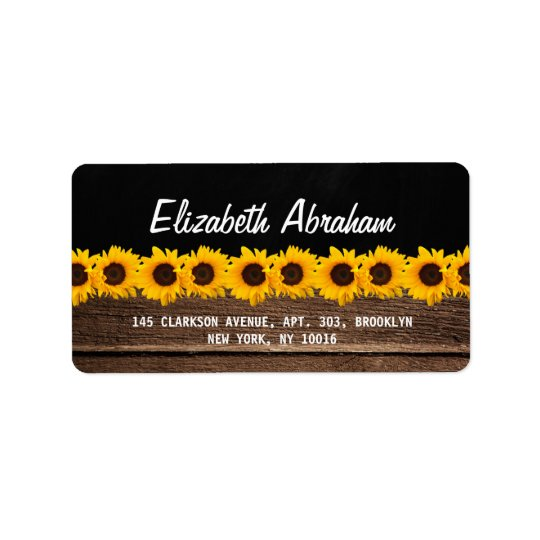 RUSTIC COUNTRY CHALKBOARD WEDDING | SUNFLOWERS LABEL