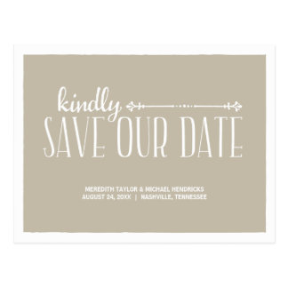Rustic Country Chic Save the Date Postcards