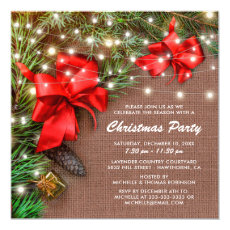 Rustic Country Christmas Bow Holiday Party
