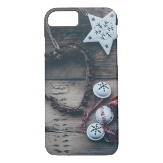 Rustic Country Christmas Decorations Festive Photo iPhone 8/7 Case
