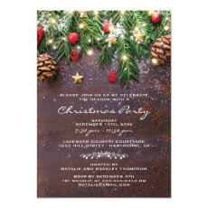 Rustic Country Christmas Holiday Party