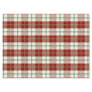 Rustic Country Christmas Holiday Tartan Plaid Tissue Paper