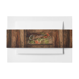 Rustic Country Christmas Invitation Belly Band