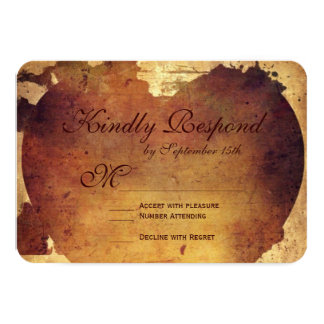 Rustic Country Distressed Heart Wedding RSVP Cards