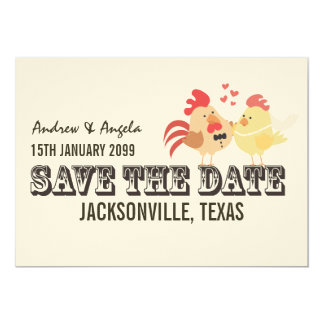 Rustic Country Farm Wedding Save the Date Announcement