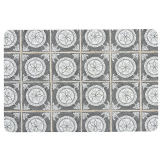 Rustic Country Farmhouse Modern Circle Pattern Art Floor Mat