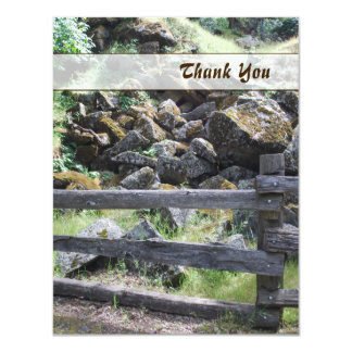 Rustic Country Fence Thank You Card 11 Cm X 14 Cm Invitation Card